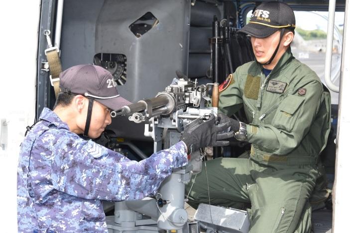 第21航空隊 機関銃射撃訓練