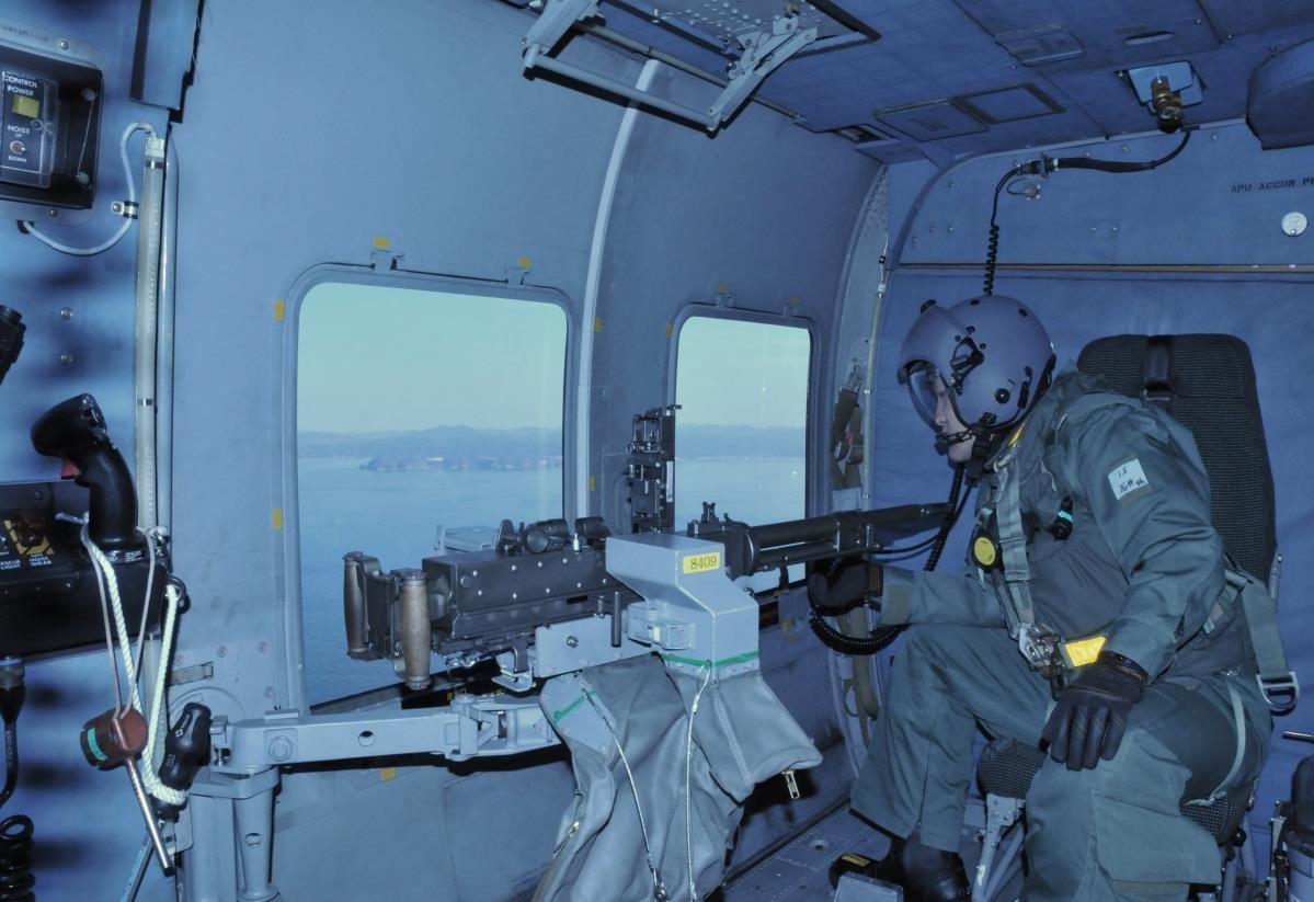 第21航空群における機関銃射撃訓練